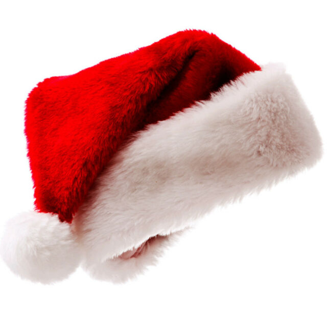 a83e9b6a8 Plush Red and White Santa Claus Cap Santa's Hat for Christmas Party Costume  Pop