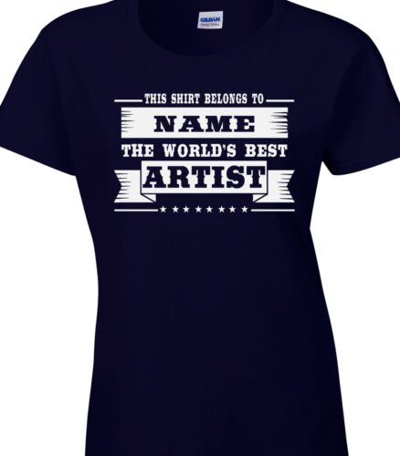 Artist Ladies Personalised T-Shirt Best World Art Painter Gallery Subject Design
