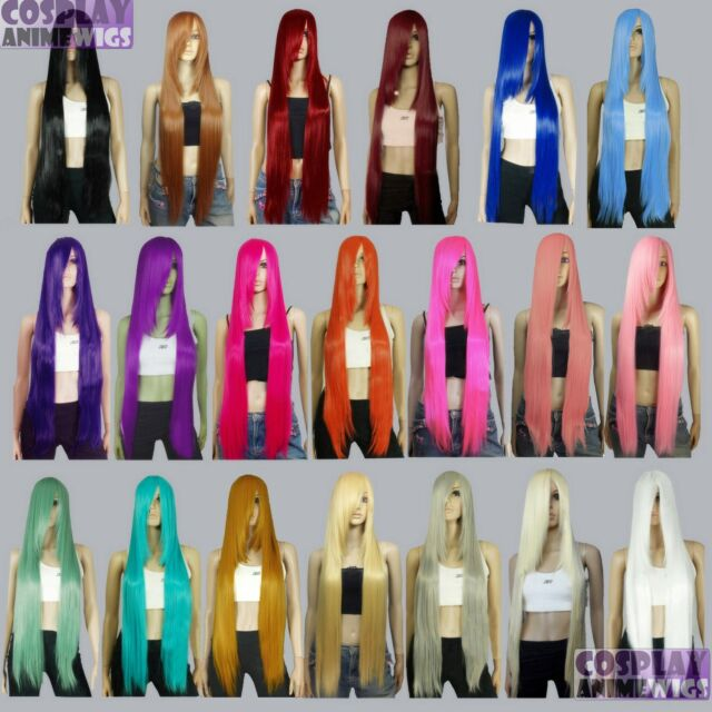 40 inch Heat Resistant ALL COLOR Long Bang Cosplay Wigs