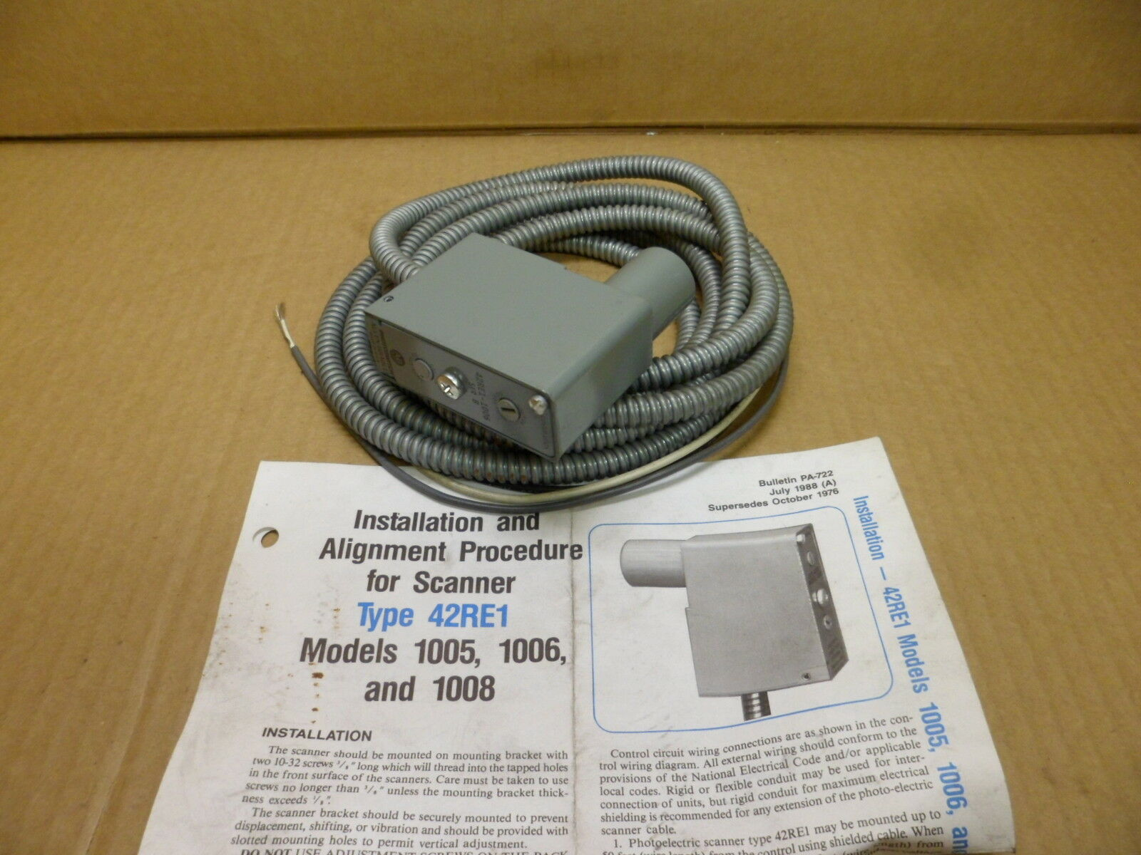 Allen Bradley 42re1 1006 Ser B Photoswitch Retroreflective Scanner The Photocell See Diagram For How To Wire This Unit Norton Secured Powered By Verisign