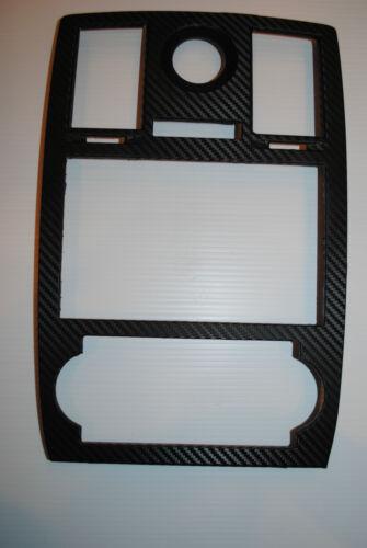 Chrysler 300 Radio Stereo Double Din Carbon fiber vinyl wrapped bezel 2005-2007