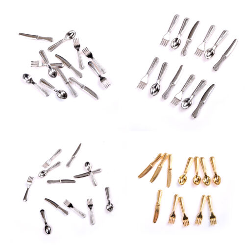 12X Mini Dollhouse Miniature Scene Model Doll House Accessories And Fork LM