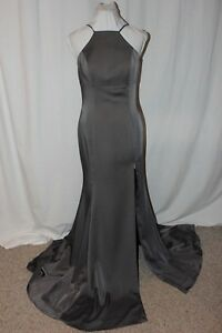 NWT-Jovani-JVN55641A-Steel-size-6-backless-long-formal-evening-gown-with-train