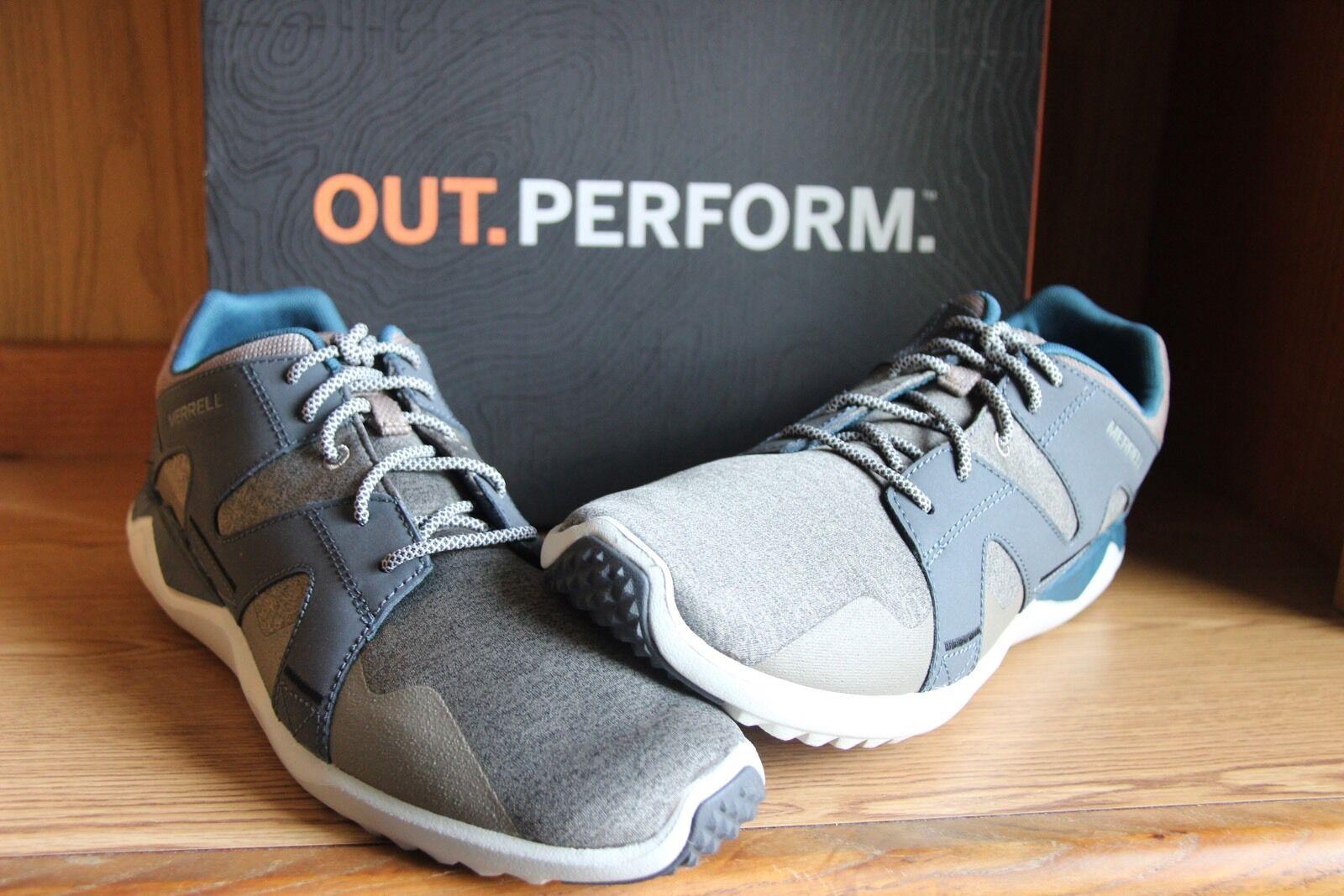 Merrell 1Six8 Lace Casual scarpe Aluminum blu Dark Slate Men Dimensione12   J49929