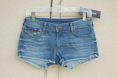 NWT TRUE RELIGION JOEY Size 29 Hot Mini Denim Short Shorts Flaps USA