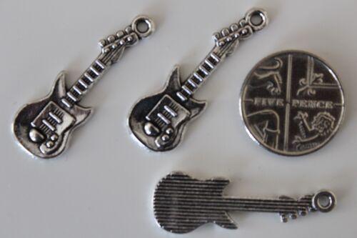 11x30mm 25 or 50 Tibetan Silver Electric Guitar Pendant Charms 10