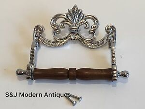 Chrome Toilet Roll Holder Victorian Vintage Edwardian Novelty Silver Nickel Old