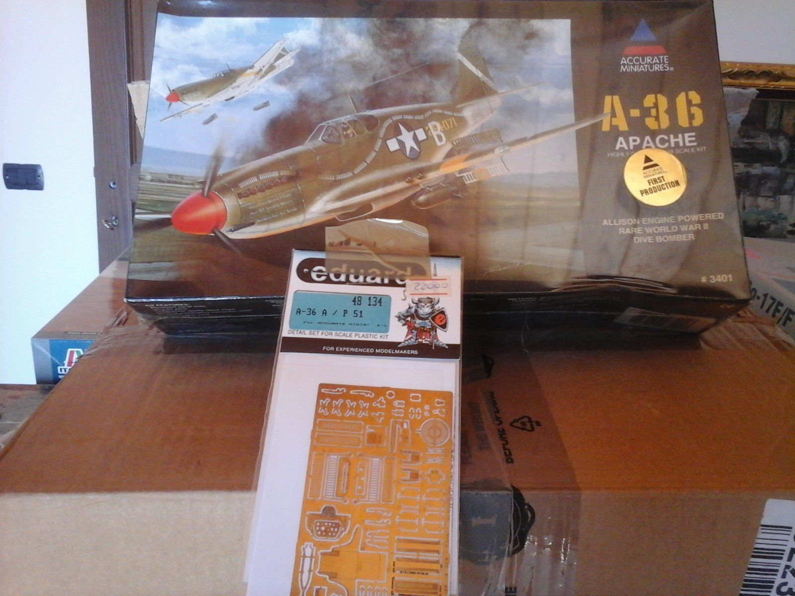 APACHE A 36 DIVE BOMBER ALLISON ENGINE 1 48 SCALE ACCURATE MINIATURES MODELS +PH