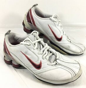 half off a5a2f 47fd6 Image is loading GUC-Women-039-s-Nike-SHOX-White-leather-