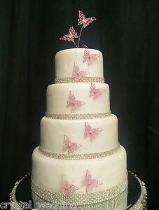 Vintage Wedding Cake Decorations Uk : Vintage filigree butterflies wedding cake topper ...