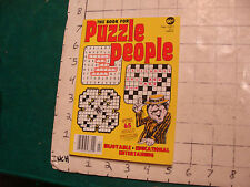 vintage UNUSED puzzle book: The Book for PUZZLE PEOPLE feb 1977; 98pgs