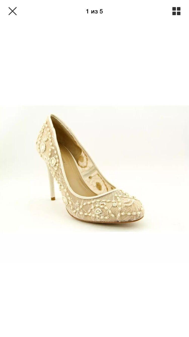 Felice shopping BCBG Max Max Max Azria Bettie Pumps  Lace Embellished Round Toe Wedding US 10 Heels  incredibili sconti