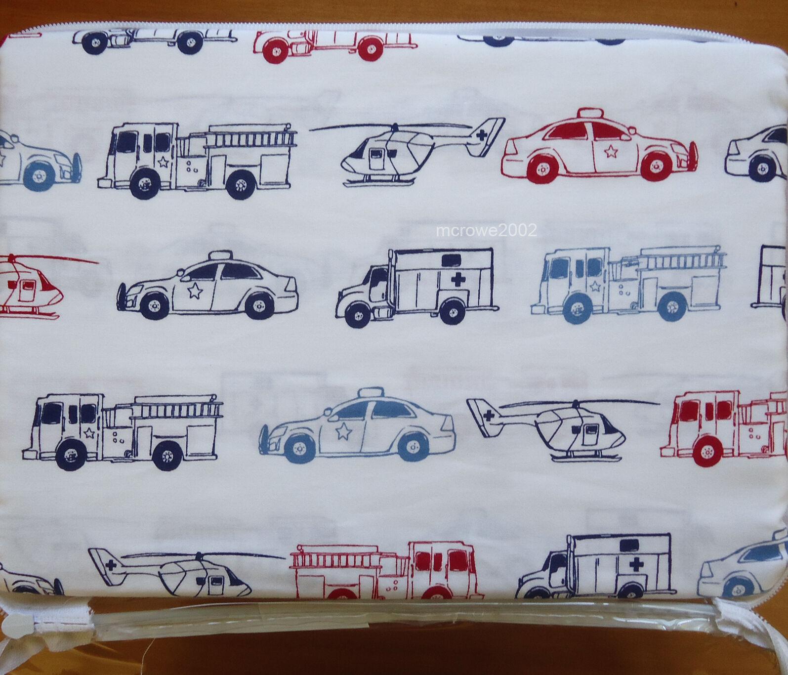 Rugged Bear Firetruck Rescue Police Full Bed Sheet Set Kids Boy Blue Red Cotton Ebay