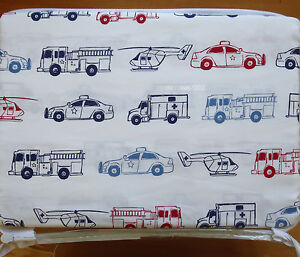 Image Is Loading Rugged Bear Firetruck Rescue Police Full Bed Sheet