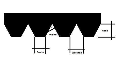 Leim Klebstoff Zahnspachtel Bodenleger Normalstahl S1 0.2x1.8mm gezahnt 180mm