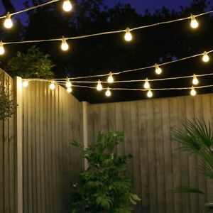 Details About 5 50m Connectable Outdoor Plug In Festoon Lights Led Bulbs Globe Garden