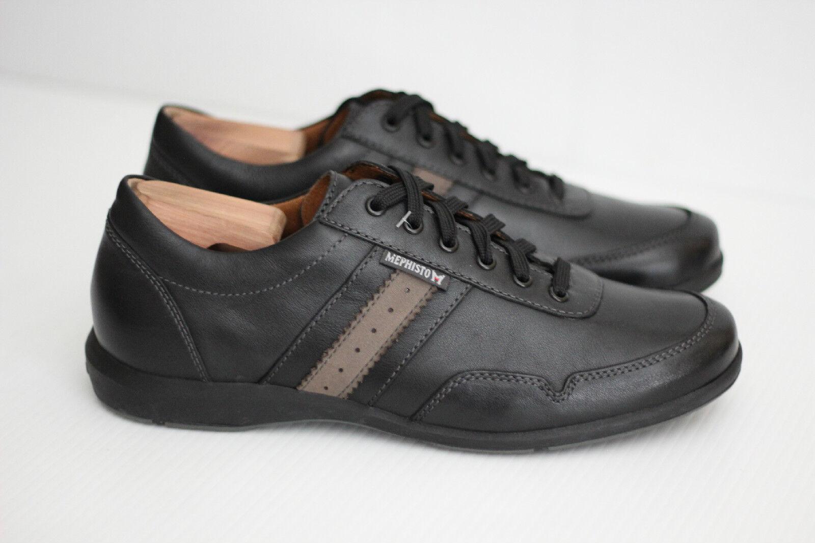 Mens Mephisto 'Bonito' Walking scarpe scarpe da ginnastica - nero Leather - Dimensione 9.5US (W34)