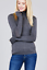 Women-Long-Sleeve-T-Shirt-Slim-Fit-Turtle-neck-Pullover-High-Tops-Casual thumbnail 4