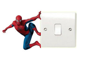 Spiderman-Light-Switch-Art-Sticker-Superhero-Marvel-Comic-Avengers-DC-Bedroom