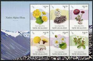 New-Zealand-NZ-2019-MNH-Native-Alpine-Flora-6v-M-S-Flowers-Plants-Stamps