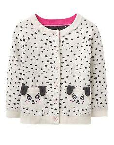 eee9cd6cc24c BNWT Joules Baby Infant Girls Cream Dorrie Dalmatians Dog Cardigan ...