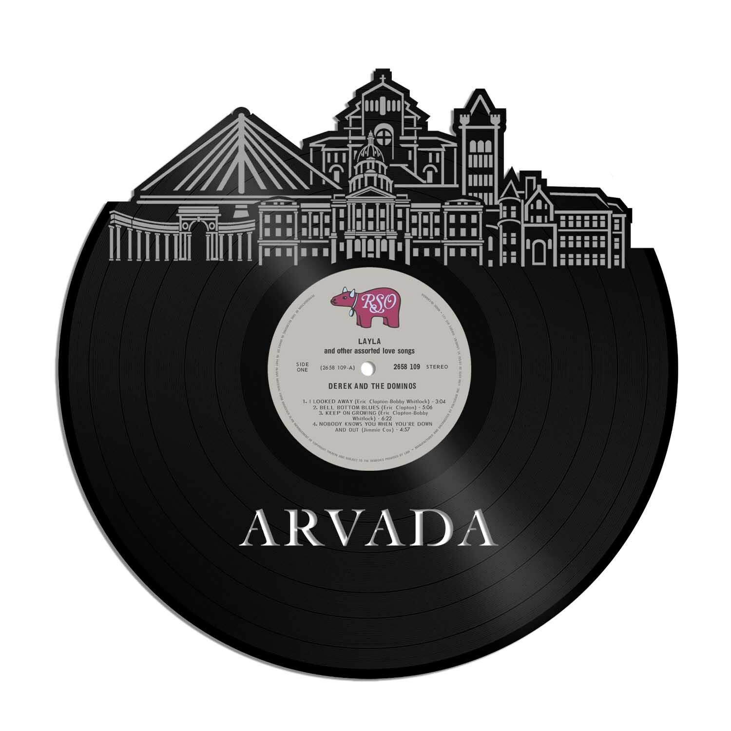 Arvada Co Vinyl Wall Art Cityscape Souvenir Anniversary Home Room Decoration