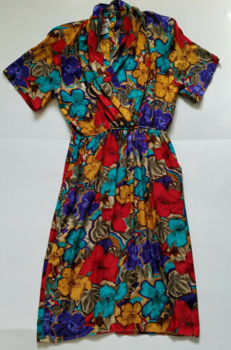 Vintage Maggy London Jeannene Booher Colorful Silk
