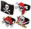 Pirate-Caoutchouc-Anneaux-Crane-Doigt-Fete-Sac-Reservoir-Pinata-Butin-Filles-Fun miniature 1