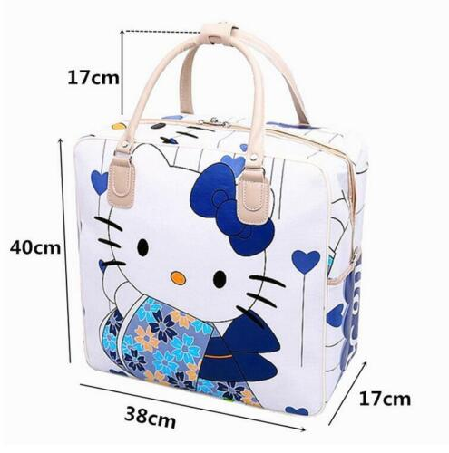 Women Girl/'s Hello Kitty Kimono Handbag Travel Luggage Bag Large Capacity Tote