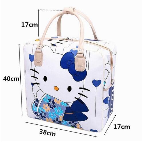 Women Girl/'s Hello Kitty Kimono Handbag Travel Luggage Bag Large Capacity Tote