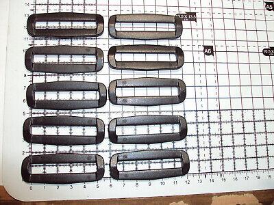 "BLACK   /""B/"" PLASTIC-2-BAR-LOOP-BUCKLES-FOR-WEBBING 40mm 10pcs"
