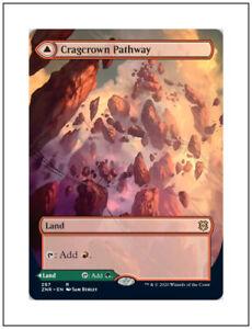 NM Foil English Magic Card Borderless Timbercrown Pathway Cragcrown Pathway