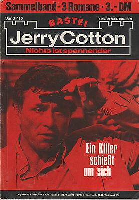 Jerry Cotton Sammelband 415 - 3 Einzelbände