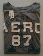 Aéropostale T-Shirt Grau, Schrift: weiß & grün, Größe XS Neu mit Etikett selten