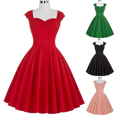 50S 60S Vintage Style Swing Pinup Housewife Evening Party Prom Dress