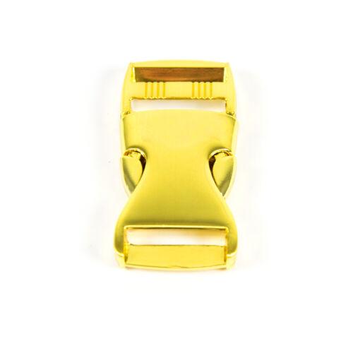 estuches Arráncala Precio = 1 unidades Metal steckschnalle 25 mm oro bolsillos