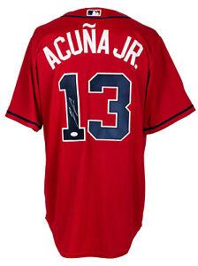 Ronald Acuna Jr. Signed Atlanta Braves Red Majestic Baseball Jersey JSA ITP