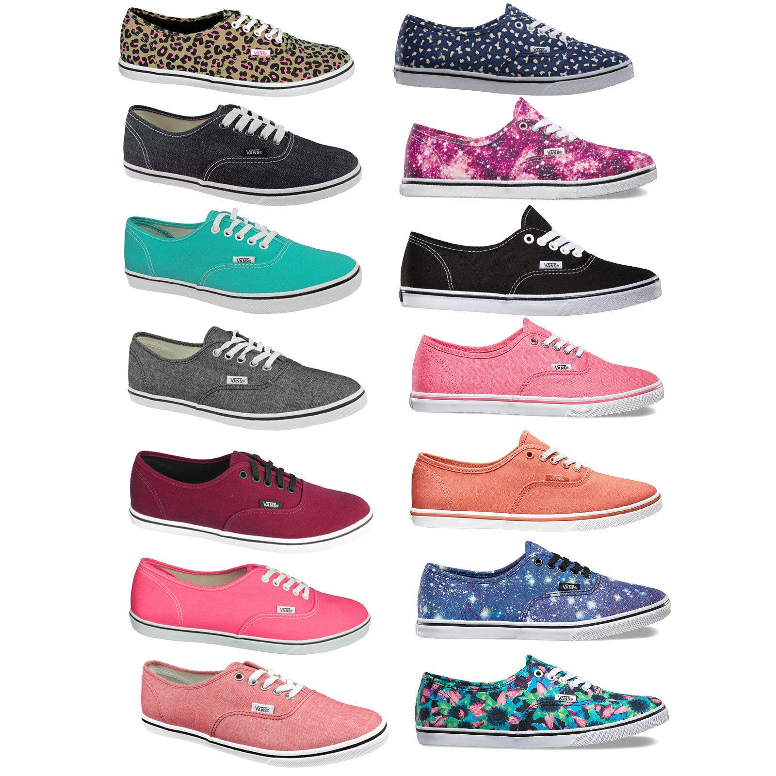 Vans Authentic Lo Pro Women's Sneaker Textile Shoes Casual Summer NEW