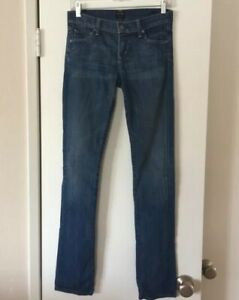 Citizens-of-Humanity-Ava-Low-Rise-Straight-Leg-Jeans-Size-25-X-33