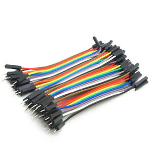 40PCS-Dupont-10CM-Male-To-Female-Jumper-Wire-Ribbon-Cable-for-Arduino-CA-NEW
