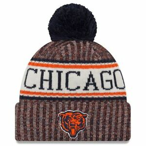 4eb9afa3d63 CHICAGO BEARS NFL NEW ERA OFFICIAL ON FIELD SIDELINE BEAR BEANIE ...