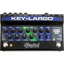 Radial Engineering Key Largo Stereo Keyboard Mixer Performance Pedal Balanced Di