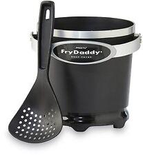 Presto Fry Daddy Deep Fryer Small Kitchen Appliances Fryers Black Portable