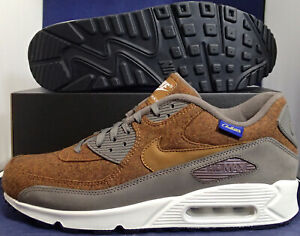 Nike-Air-Max-90-Premium-Pendleton-Wool-iD-Brown-Grey-White-SZ-11-838675-991