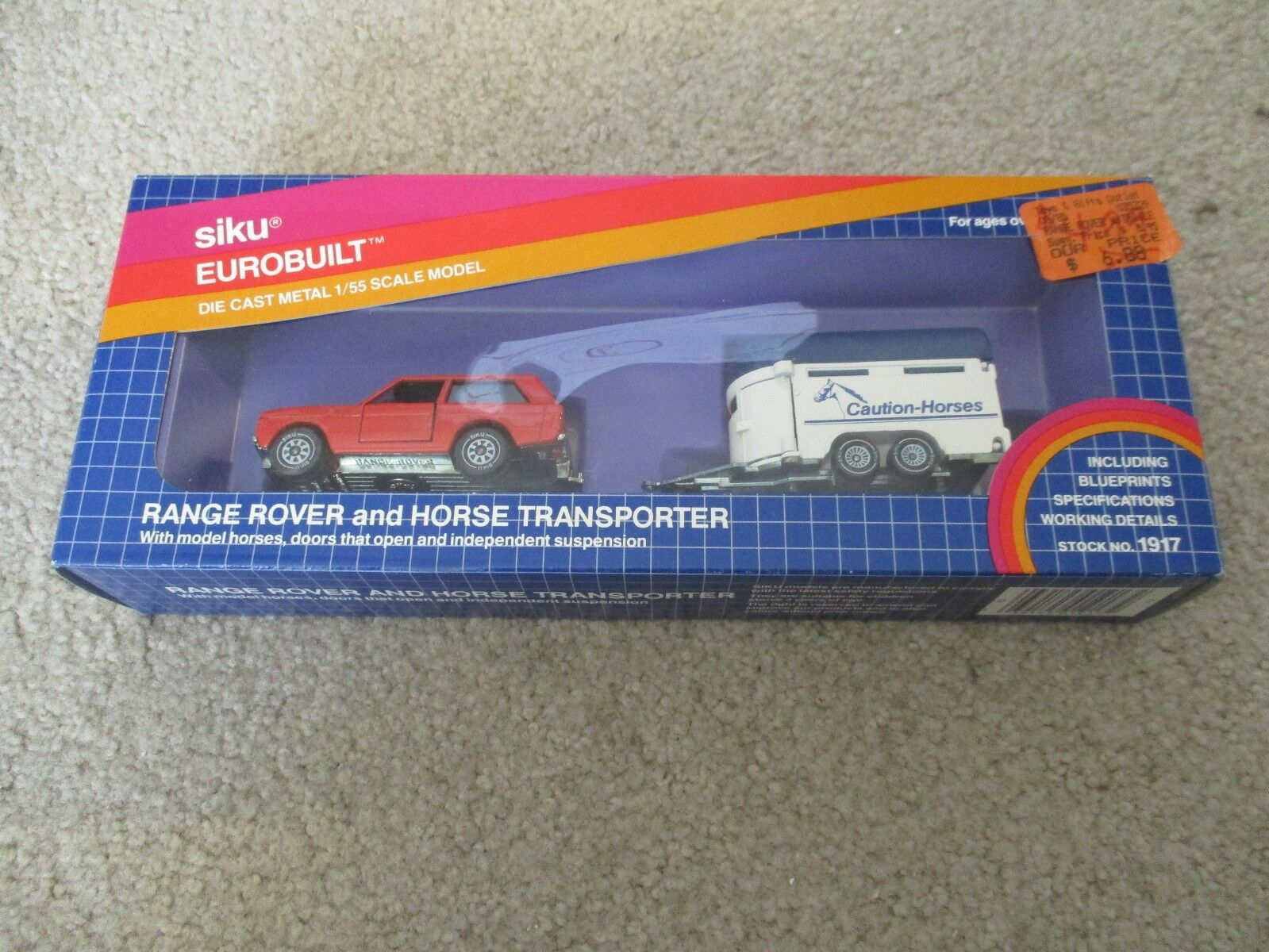 Siku Eurobuilt Range Rover And Horse Transporter 1 55 Scale  1917 Nice With Box