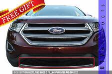 GTG 2015 - 2017 Ford Edge 1PC Gloss Black Overlay Bumper Billet Grille Grill