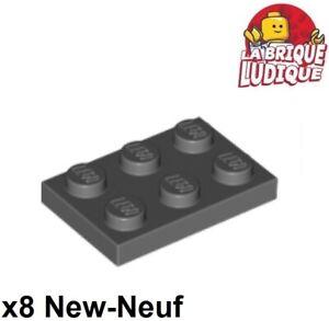 Grey New New Flat 2x3 8 x lego 3021 Plate Light Bluish Grey Gray