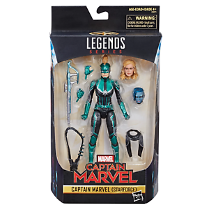 CAPTAIN MARVEL ( STARFORCE ) VHTF ( 2018 ) MARVEL LEGENDS AVENGERS ACTION FIGURE