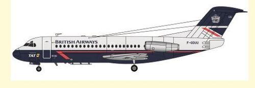 F-rsin 1/144 Fokker F-28-2000 British Airways/TAT # FRP4099