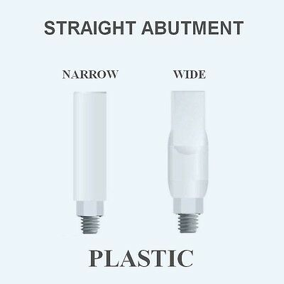 30xPLASTIC STRAIGHT ABUTMENTS NARROW / WIDE for Internal HEX implant System $174
